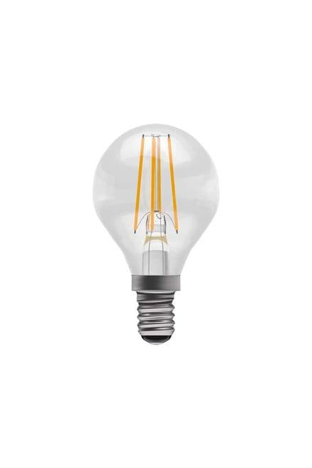 BELL 60123 4W LED Dimmable Filament Round BC Clear 4000K